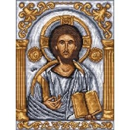 Ikona- Kristus Pantokrator - Předtištěná aida