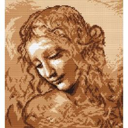 L. da Vinci - Hlava ženy - Předtištěná aida