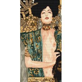 G. Klimt - Judita s Holofernesovou hlavou - Předtištěná aida