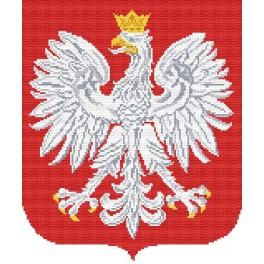 Znak Polska - Předtištěná aida
