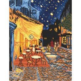 Noční kavárna - Vincent Van Gogh - Předtištěná aida