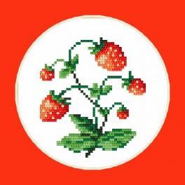 AN 4407 Sladké jahody - B. Sikora-Malyjurek - Předtištěná aida