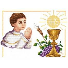 1. Svaté Přijímání - chlapeček - Předtištěná aida