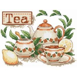 Čaj - Předtištěná aida