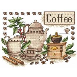 Káva - Předtištěná aida