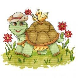 Veselá želvička - Předtištěná aida