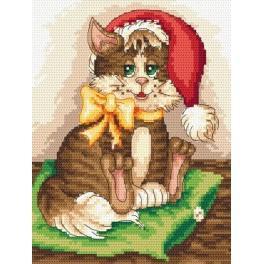 Sladké koťátko - Předtištěná aida
