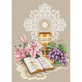 Památka na první svaté přijímání - Předtištěná aida