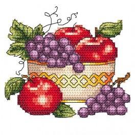 Mísa s jablky - Předtištěná aida