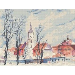 Výhled na město - K. Starowicz - Předtištěná aida
