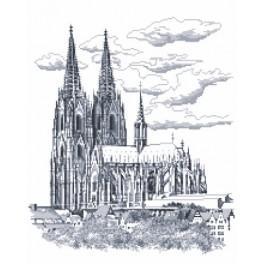 Kolínská katedrála - Předtištěná aida