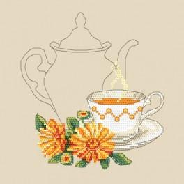 Čaj z měsíčku - Předtištěná aida