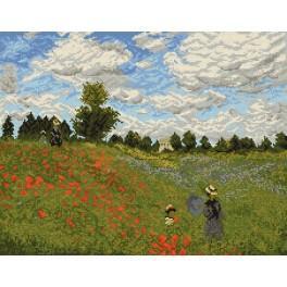 Claude Monet - Máky poblíž Argenteuil - Předtištěná aida