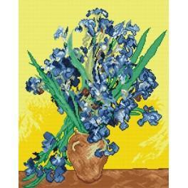 V. van Gogh - Kosatce - Předtištěná aida