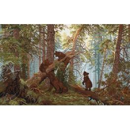 Ivan Shishkin - Ráno v lese - Předtištěná aida