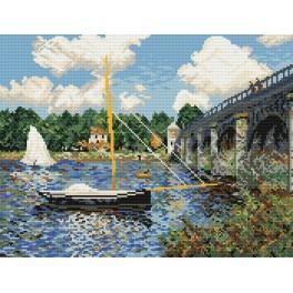 Claude Monet - Silniční most v Argenteuil - Předtištěná aida