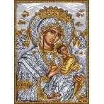 Ikona - Matka Boží s Děťátkem - Předtištěná aida
