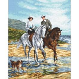 S přítelkyní na koních - Předtištěná aida