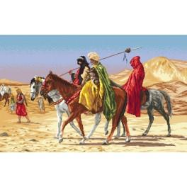 Arabští jezdci - Jean-Leon Gerome - Předtištěná aida
