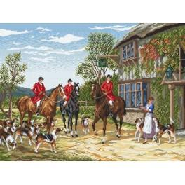 Před lovem - H. Hardy - Předtištěná aida