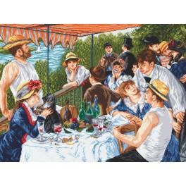 Snídaně veslařů - A. Renoir - Předtištěná aida