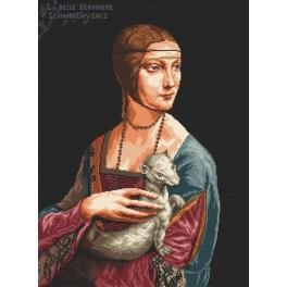 Dáma s hranostajem - Leonardo da Vinci - Předtištěná aida