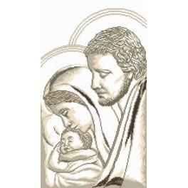 Josef, Marie a děťátko - Předtištěná aida