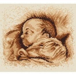Spící dítě - Předtištěná aida