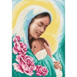 Marie s dítětem - Předtištěná aida