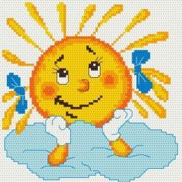 Zasněné sluníčko - Předtištěná aida