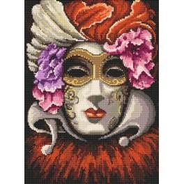 Benátská maska - Předtištěná aida