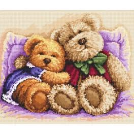 AN 8237 Milovaní medvídci - Předtištěná aida