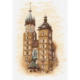 Mariacki kostel - Předtištěná aida