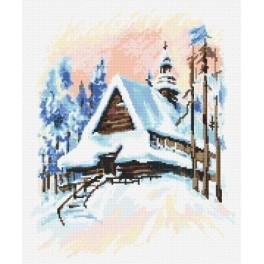 Zimní krajinka - Předtištěná aida