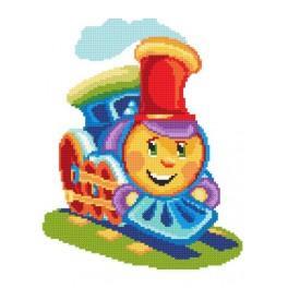 Barevná lokomotiva - Předtištěná aida
