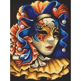Tajemná maska - Předtištěná aida