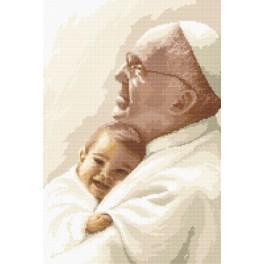 Papež František s dítětem - Předtištěná aida