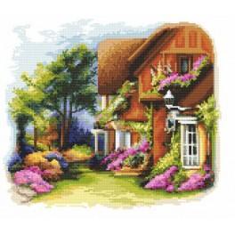 Tajemná zahrada - Předtištěná aida