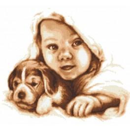 Šťastné dětství - Předtištěná aida