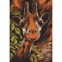 Žirafa v buši - Předtištěná aida