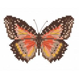 Hnědý motýl - Předtištěná aida