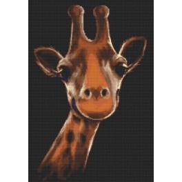 Žirafa - Předtištěná aida