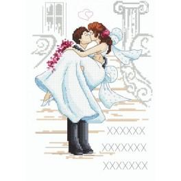 Památka na svatbu - Předtištěná aida