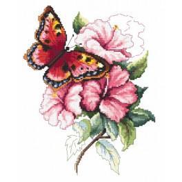 Barevný motýl - Předtištěná aida