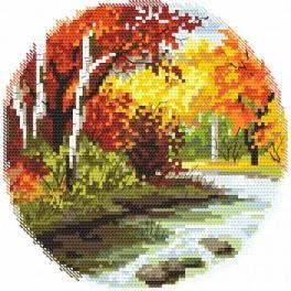 Čtyři roční období - podzim - Předtištěná aida