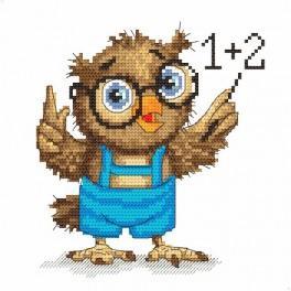 AN 8373 Malá sovička – matematička - Předtištěná aida