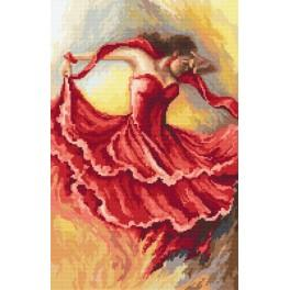 Tanec živlů – oheň - Předtištěná aida