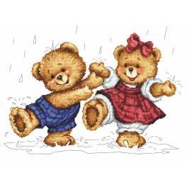 Dešťoví medvídci - Předtištěná aida