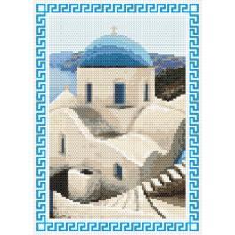 AN 8401 Vzpomínky na dovolenou - Řecko - Předtištěná aida