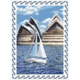AN 8403 Vzpomínky na dovolenou - Austrálie - Předtištěná aida